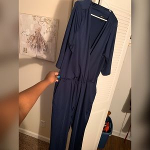 Super fun, casual blue jumpsuit